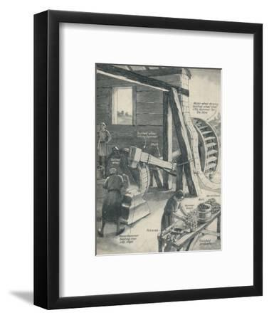 'Work in an Iron Foundry and Smithy During The Period of the Middle Ages', c1934-Unknown-Framed Giclee Print