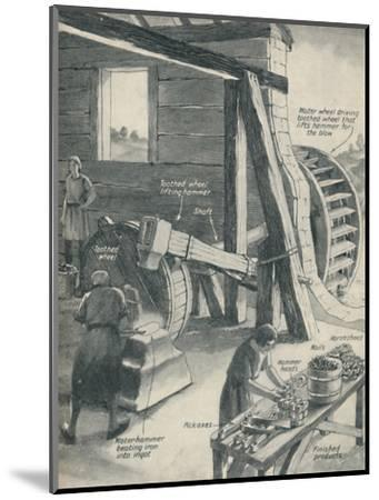 'Work in an Iron Foundry and Smithy During The Period of the Middle Ages', c1934-Unknown-Mounted Giclee Print
