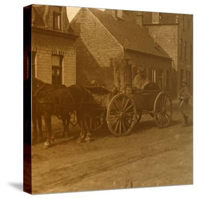 Horse-drawn kitchen, c1914-c1918-Unknown-Stretched Canvas Print