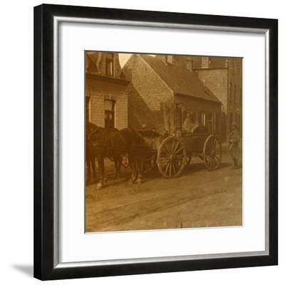Horse-drawn kitchen, c1914-c1918-Unknown-Framed Photographic Print