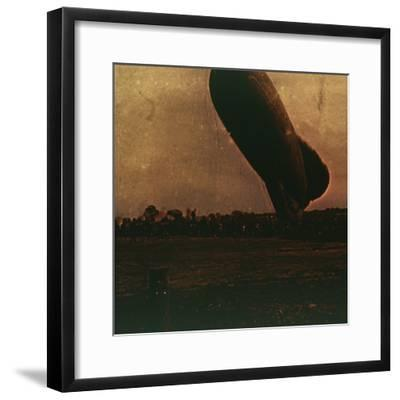 Barrage balloon, c1914-c1918-Unknown-Framed Photographic Print