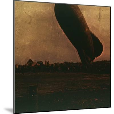 Barrage balloon, c1914-c1918-Unknown-Mounted Photographic Print