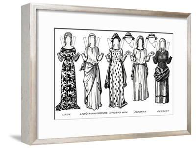'The Gallery of British Costume: Dress Worn in the Reign of the First Edward', c1934-Unknown-Framed Giclee Print