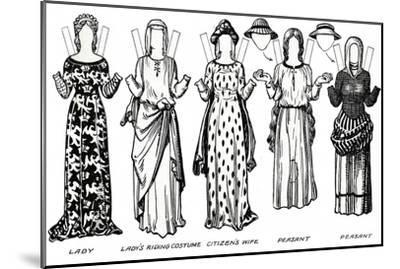 'The Gallery of British Costume: Dress Worn in the Reign of the First Edward', c1934-Unknown-Mounted Giclee Print