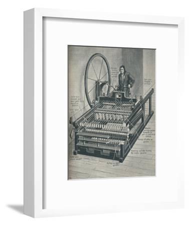 'How The Early Spinning Jenny Worked', c1934-Unknown-Framed Giclee Print