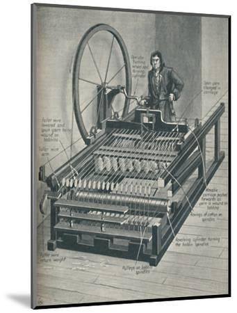 'How The Early Spinning Jenny Worked', c1934-Unknown-Mounted Giclee Print