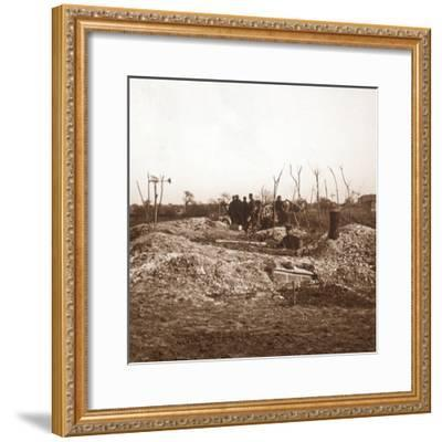 Hidden battery, c1914-c1918-Unknown-Framed Photographic Print
