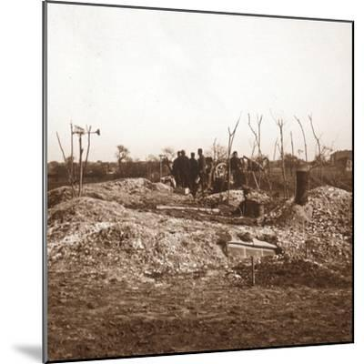 Hidden battery, c1914-c1918-Unknown-Mounted Photographic Print