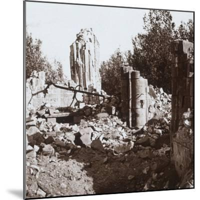 Ruined chateau, Pinon, northern France, c1914-c1918-Unknown-Mounted Photographic Print