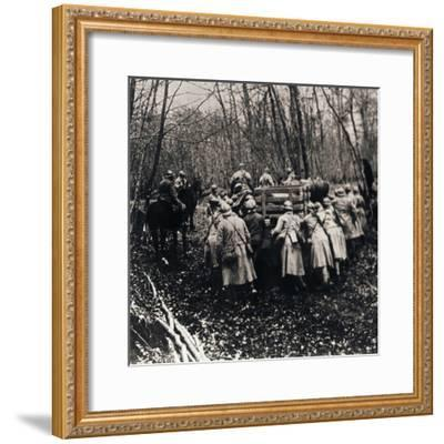 Soldiers in the woods, c1914-c1918-Unknown-Framed Photographic Print