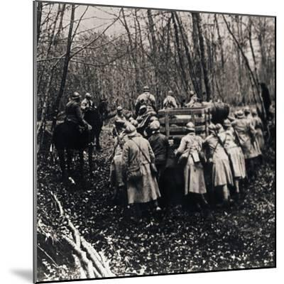 Soldiers in the woods, c1914-c1918-Unknown-Mounted Photographic Print