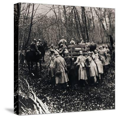 Soldiers in the woods, c1914-c1918-Unknown-Stretched Canvas Print