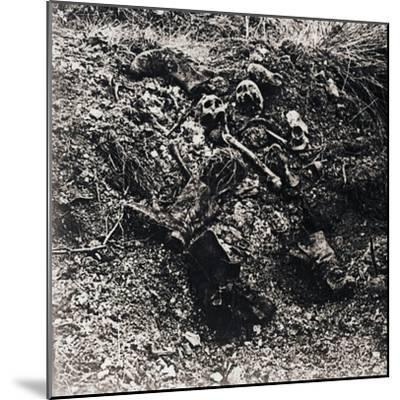 Human remains, c1914-c1918-Unknown-Mounted Photographic Print
