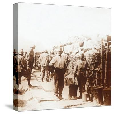 Soldiers in the trenches, Belgium, c1914-c1918-Unknown-Stretched Canvas Print