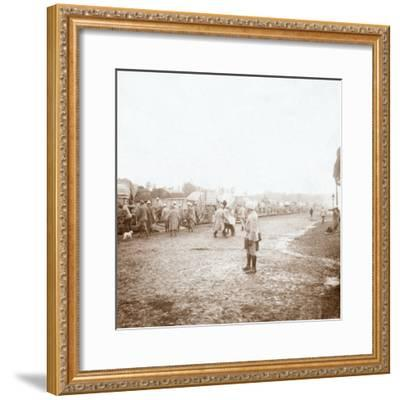 Arriving at Revigny, northern France, c1914-c1918-Unknown-Framed Photographic Print