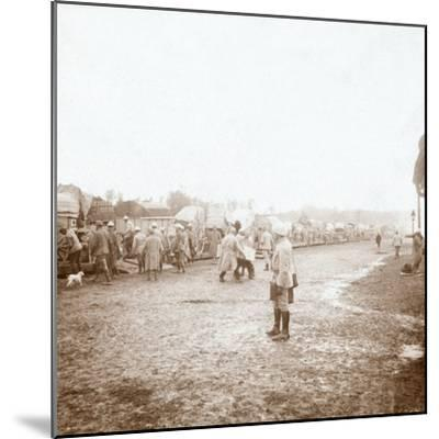 Arriving at Revigny, northern France, c1914-c1918-Unknown-Mounted Photographic Print