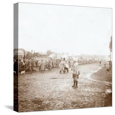 Arriving at Revigny, northern France, c1914-c1918-Unknown-Stretched Canvas Print