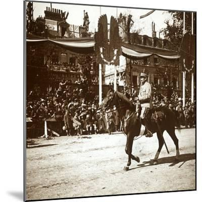 General Toulorge at victory parade, Paris, France, c1918-c1919-Unknown-Mounted Photographic Print