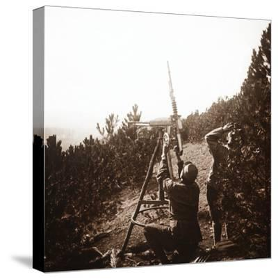 Anti-aircraft machine gun, Alace, France, c1914-c1918-Unknown-Stretched Canvas Print