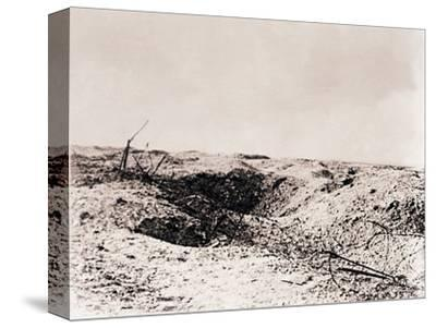 Battlefield, Tahure, northern France, c1914-c1918-Unknown-Stretched Canvas Print