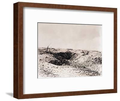 Battlefield, Tahure, northern France, c1914-c1918-Unknown-Framed Photographic Print