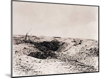 Battlefield, Tahure, northern France, c1914-c1918-Unknown-Mounted Photographic Print