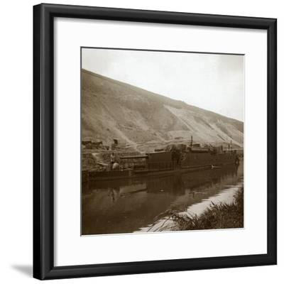 Gunboat, Genicourt, northern France, c1914-c1918-Unknown-Framed Photographic Print