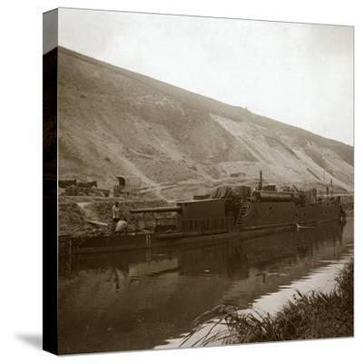 Gunboat, Genicourt, northern France, c1914-c1918-Unknown-Stretched Canvas Print