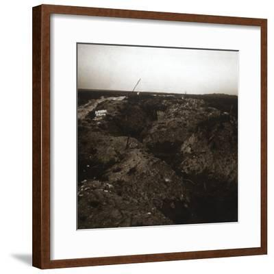Battlefield, Craonne, northern France, c1914-c1918-Unknown-Framed Photographic Print