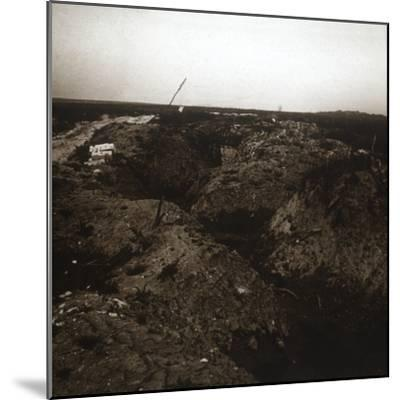 Battlefield, Craonne, northern France, c1914-c1918-Unknown-Mounted Photographic Print