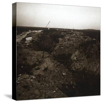 Battlefield, Craonne, northern France, c1914-c1918-Unknown-Stretched Canvas Print
