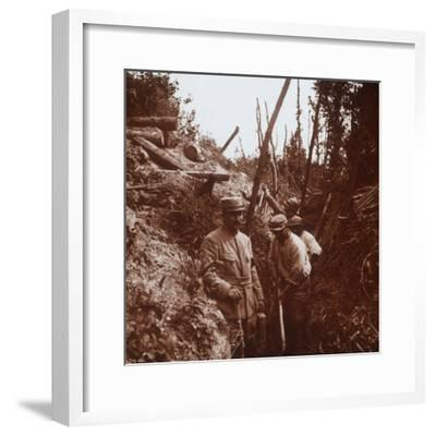 The front line, Soissons, northern France, c1914-c1918-Unknown-Framed Photographic Print