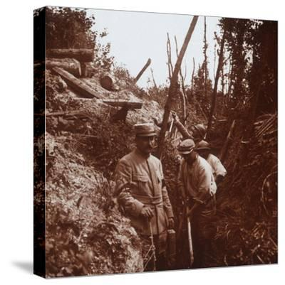 The front line, Soissons, northern France, c1914-c1918-Unknown-Stretched Canvas Print