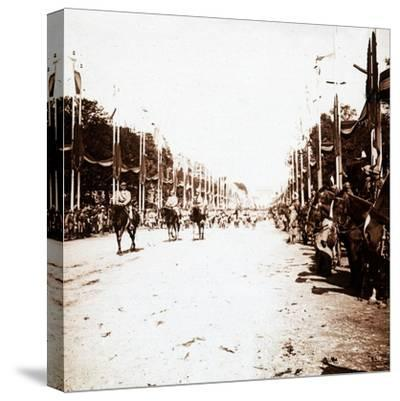 Victory parade, Paris, France, c1918-c1919-Unknown-Stretched Canvas Print