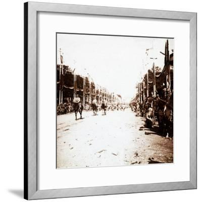 Victory parade, Paris, France, c1918-c1919-Unknown-Framed Photographic Print