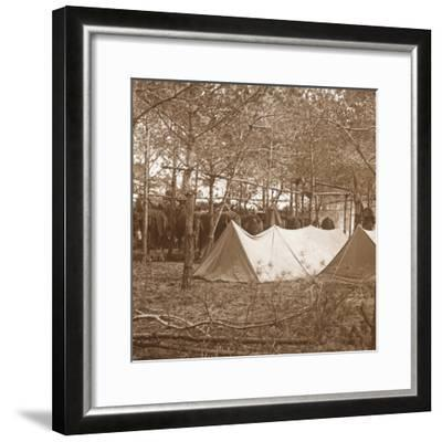 Horses' billet, Suippes, northern France, c1914-c1918-Unknown-Framed Photographic Print