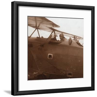 Breguet biplane taking off, c1914-c1918-Unknown-Framed Photographic Print