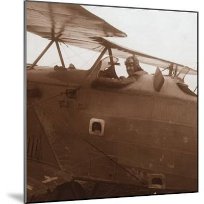 Breguet biplane taking off, c1914-c1918-Unknown-Mounted Photographic Print