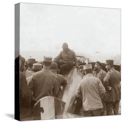 Returning from a mission, c1914-c1918-Unknown-Stretched Canvas Print