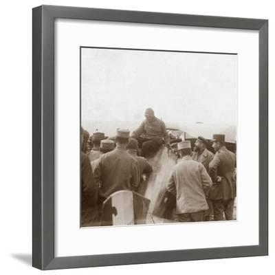 Returning from a mission, c1914-c1918-Unknown-Framed Photographic Print