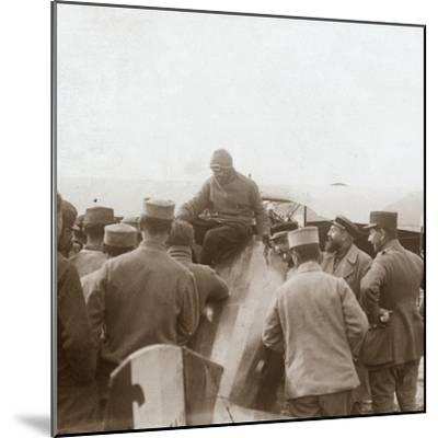 Returning from a mission, c1914-c1918-Unknown-Mounted Photographic Print