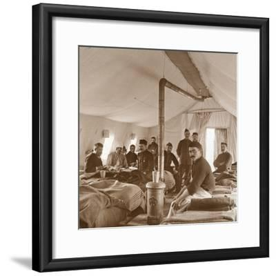 Hospital, Suippes, Somme, northern France, c1914-c1918-Unknown-Framed Photographic Print