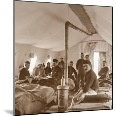 Hospital, Suippes, Somme, northern France, c1914-c1918-Unknown-Mounted Photographic Print