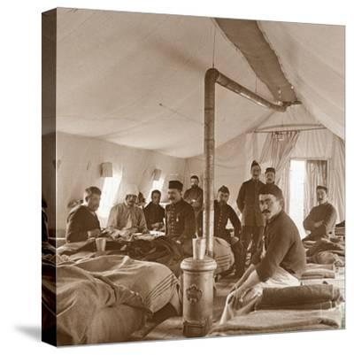 Hospital, Suippes, Somme, northern France, c1914-c1918-Unknown-Stretched Canvas Print