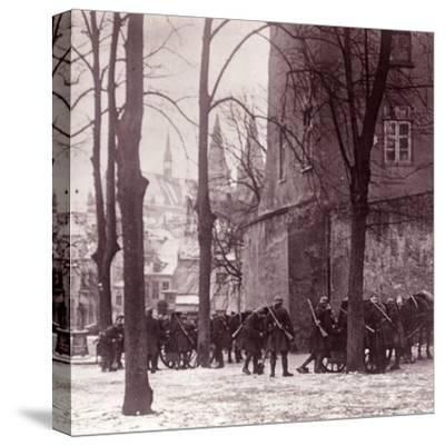 Troops, Aachen, Germany, c1914-c1918-Unknown-Stretched Canvas Print