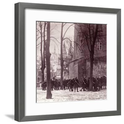 Troops, Aachen, Germany, c1914-c1918-Unknown-Framed Photographic Print