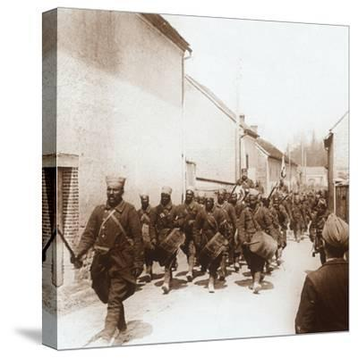 African troops, c1914-c1918-Unknown-Stretched Canvas Print