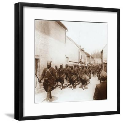 African troops, c1914-c1918-Unknown-Framed Photographic Print