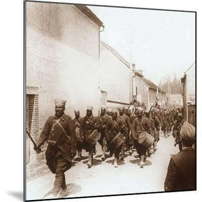 African troops, c1914-c1918-Unknown-Mounted Photographic Print