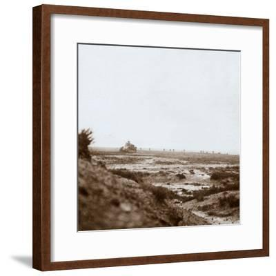 Advancing with tanks, c1914-c1918-Unknown-Framed Photographic Print